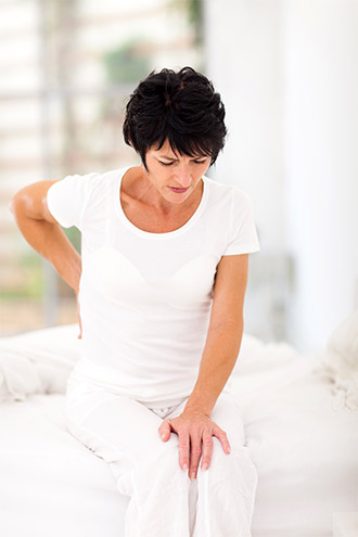 unsupportive mattress causes backpain